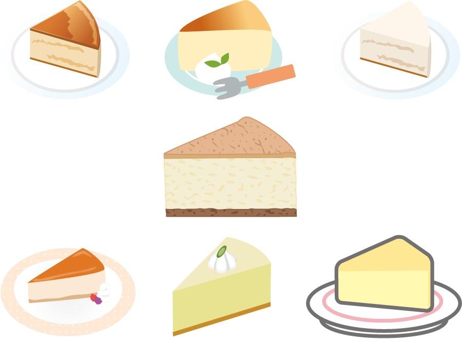 レアチーズケーキ、スフレチーズケーキ、ベイクドチーズの違い